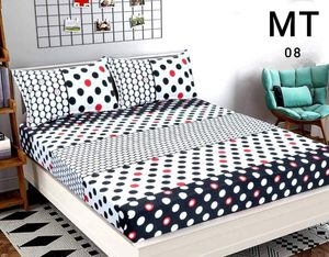 SK TRADERS POLYCOTTON DOUBLE BED SHEET SIZE 90x90 INCH WITH 2 PC PILLOW COVER SIZE 16x26 INCH MULTI_112