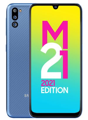 Samsung Galaxy M21 2021 Edition (Arctic Blue: 6GB RAM: 128GB Storage)   FHD+ sAMOLED   6 Months Free Screen Replacement for Prime