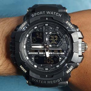 Skmei Water Resistant Hybrid Sports Analog-Digital Men's Watch - 1164