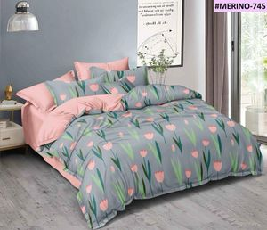 Vinay Handloom 210 TC Microfiber Tulip Floral Double Bedsheet with 2 Pillow Covers (90 X 100 Inches)